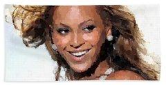 Beyonce Portrait Hand Towel