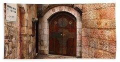 Door In Jerusalem Hand Towel