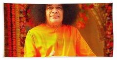 Bhagavan Sri Sathya Sai Baba Hand Towel by Carlos Avila