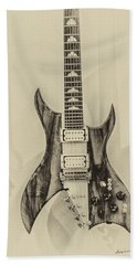 Bich Electric Guitar Monocolored Bath Towel