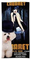 Bichon Frise Art - Cabaret Movie Poster Hand Towel