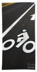 Bicycle Lane Hand Towel