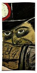 Bath Towel featuring the painting Big Bad John Coal Miner by Jeffrey Koss