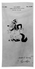Big Bad Wolf Disney Patent Drawing Hand Towel