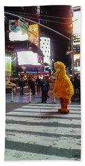 Big Bird On Times Square Bath Towel