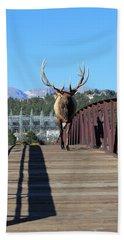 Big Bull On The Bridge Bath Towel