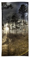 Big Cypress Fire At Sunset Bath Towel