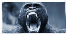 Big Gorilla Yawn Bath Towel