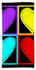 Bath Towel featuring the photograph Big Hearts I by Marianne Campolongo