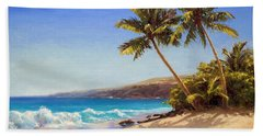 Hawaiian Beach Seascape - Big Island Getaway  Bath Towel