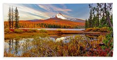 Big Lake And Mt Washington Oregon Hand Towel