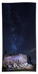 Big Muskie Bucket Milky Way And A Shooting Star Hand Towel