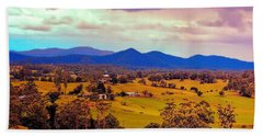 Hand Towel featuring the photograph Big Sky Country by Wallaroo Images