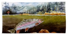Big Thompson Trout Hand Towel