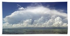Big Thunderstorm Over The Bay Hand Towel