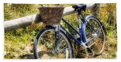 Bike At Nantucket Beach Hand Towel by Tammy Wetzel