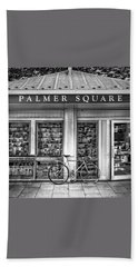 Bike At Palmer Square Book Store In Princeton Hand Towel