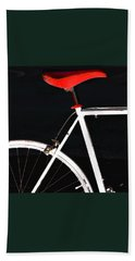 Bike In Black White And Red No 1 Bath Towel by Ben and Raisa Gertsberg