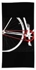Bike In Black White And Red No 2 Bath Towel by Ben and Raisa Gertsberg