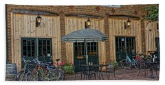 Bike Shop Cafe Katty Trail St Charles Mo Dsc00860 Hand Towel by Greg Kluempers