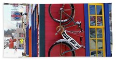 Hand Towel featuring the photograph Bike Shop by Fiona Kennard