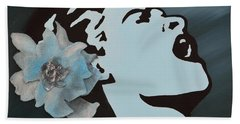 Billie Holiday Hand Towel by Alys Caviness-Gober