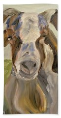Bath Towel featuring the painting Billy by Donna Tuten