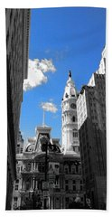 Bath Towel featuring the photograph Billy Penn Blue by Photographic Arts And Design Studio