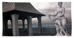 Biltmore Italian Garden Gazebo - Biltmore House Statues Architecture Garden Hand Towel by Kathy Fornal