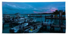 Bimini Big Game Club Docks After Sundown Hand Towel