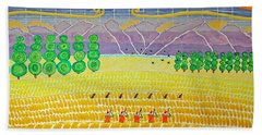 Bird Hunting Lower Valley With Chocolate Labs Bath Towel