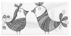 Bird Love Birds Bath Towel
