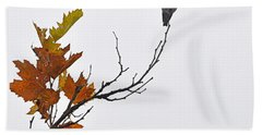 Bird Of Autumn Hand Towel by AJ  Schibig
