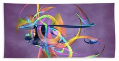 Bird-of-paradise - Abstract Hand Towel