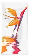 Bird Of Paradise Reflections Hand Towel