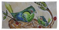 Bird Talk Bath Towel