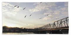 Birds And Bridges Bath Towel