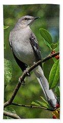 Birds - Northern Mockingbird Hand Towel