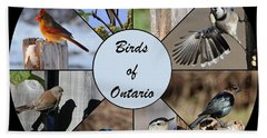 Birds Of Ontario Bath Towel