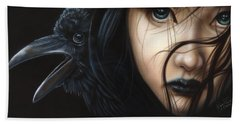 Birds Of Prey- Raven Hand Towel