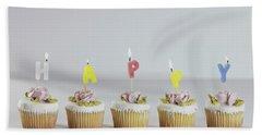 Birthday Cupcakes Bath Towel