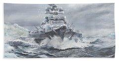 Bismarck Off Greenland Coast  Hand Towel