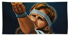 Bjorn Borg Hand Towel by Paul Meijering
