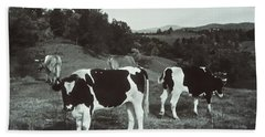 Black And White Cows Bath Towel