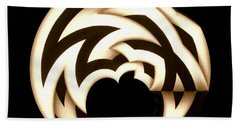 Black And White Head Piece Hand Towel