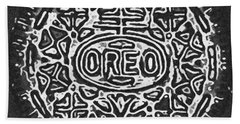 Black And White Oreo Bath Towel