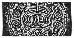 Black And White Oreo Hand Towel