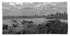 Hand Towel featuring the photograph Black And White Sydney by Miroslava Jurcik