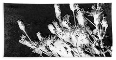Bath Towel featuring the photograph Black And White Wildflower by Shawna Rowe