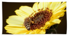 Black And Yellow Bee Beauty Hand Towel